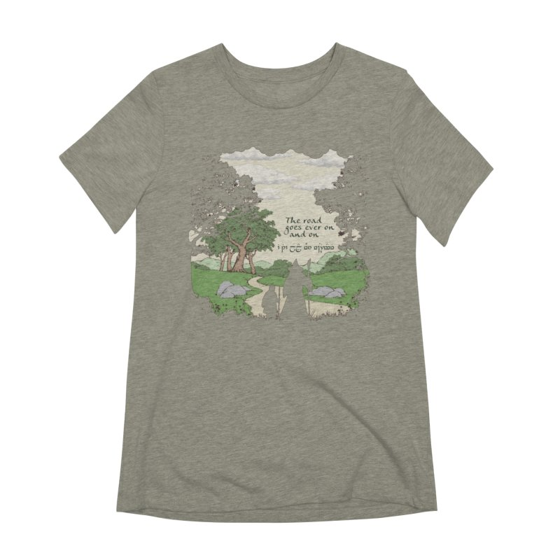The road goes ever on and on Women's Extra Soft T-Shirt by Q101 Shop