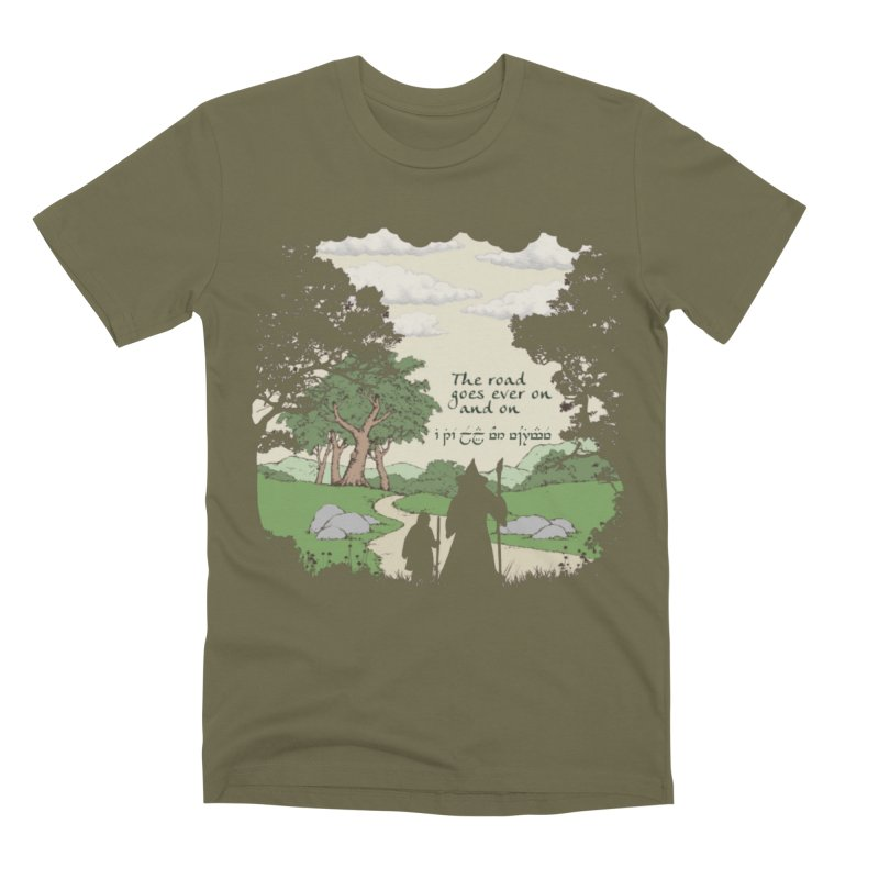 The road goes ever on and on Men's Premium T-Shirt by Q101 Shop