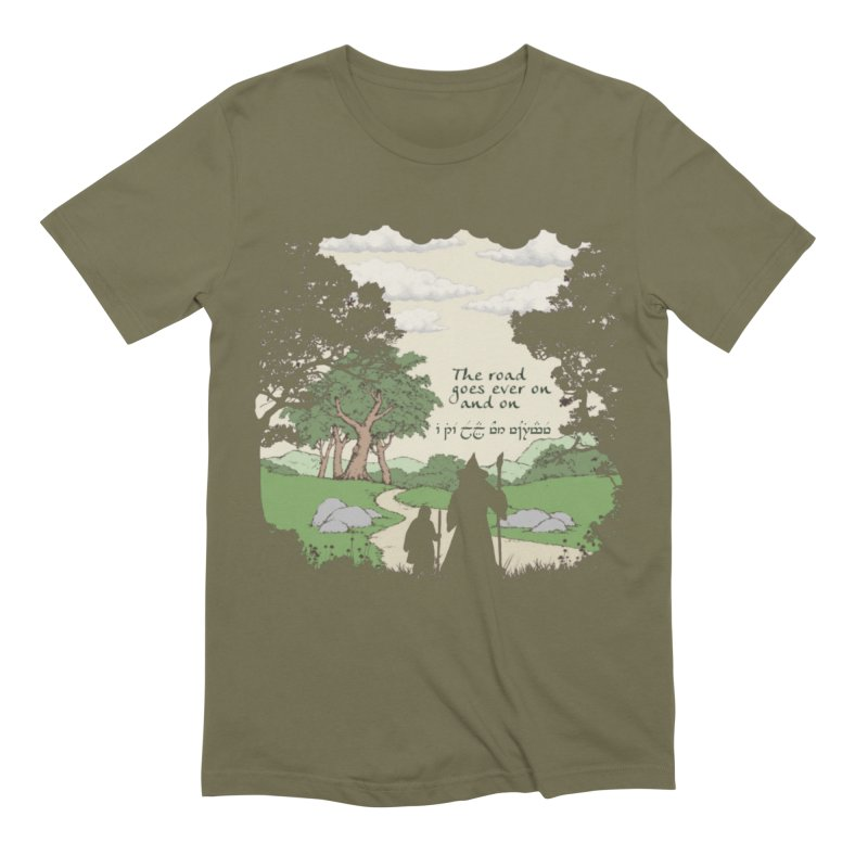 The road goes ever on and on Men's Extra Soft T-Shirt by Q101 Shop