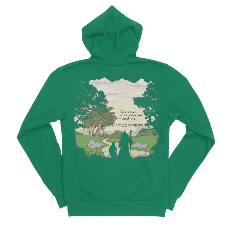 The road goes ever on and on Men's Sponge Fleece Zip-Up Hoody by Q101 Shop
