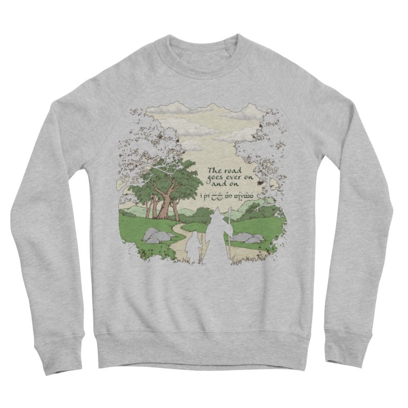 The road goes ever on and on Women's Sponge Fleece Sweatshirt by Q101 Shop