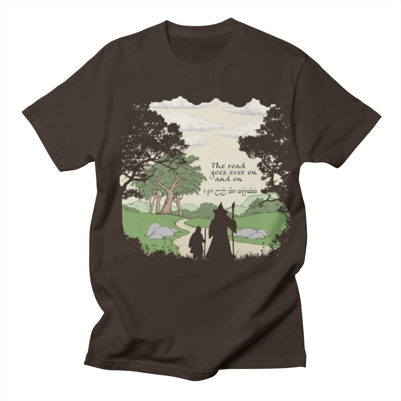 The road goes ever on and on in Men's Regular T-Shirt Chocolate by Q101 Shop