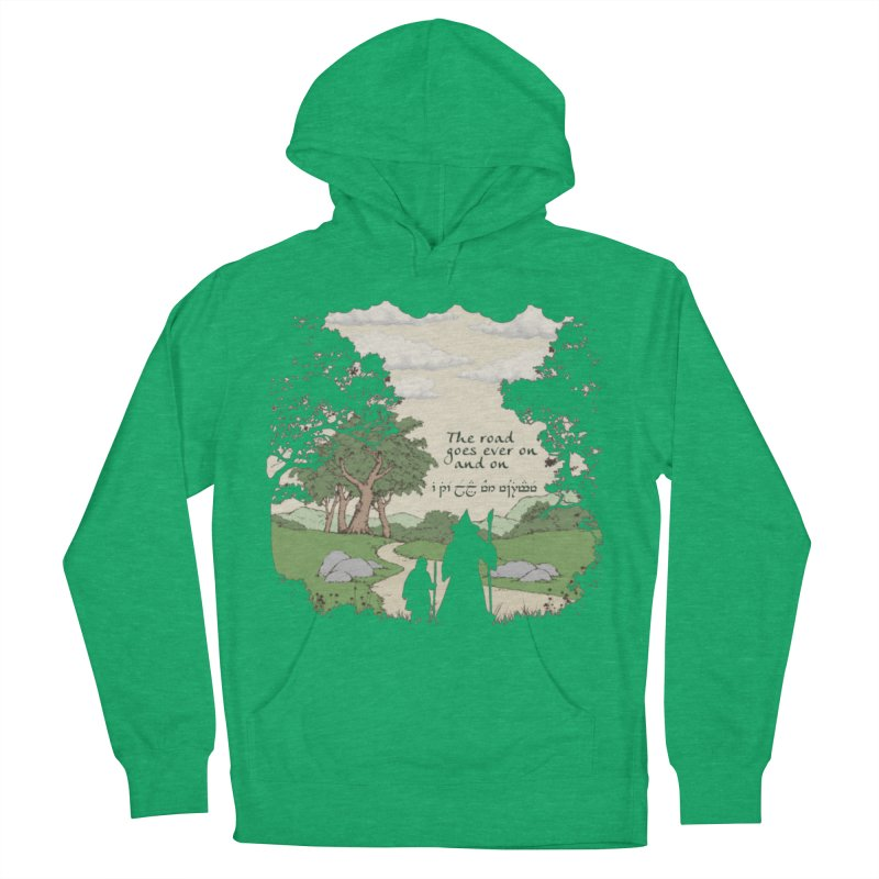 The road goes ever on and on Men's French Terry Pullover Hoody by Q101 Shop