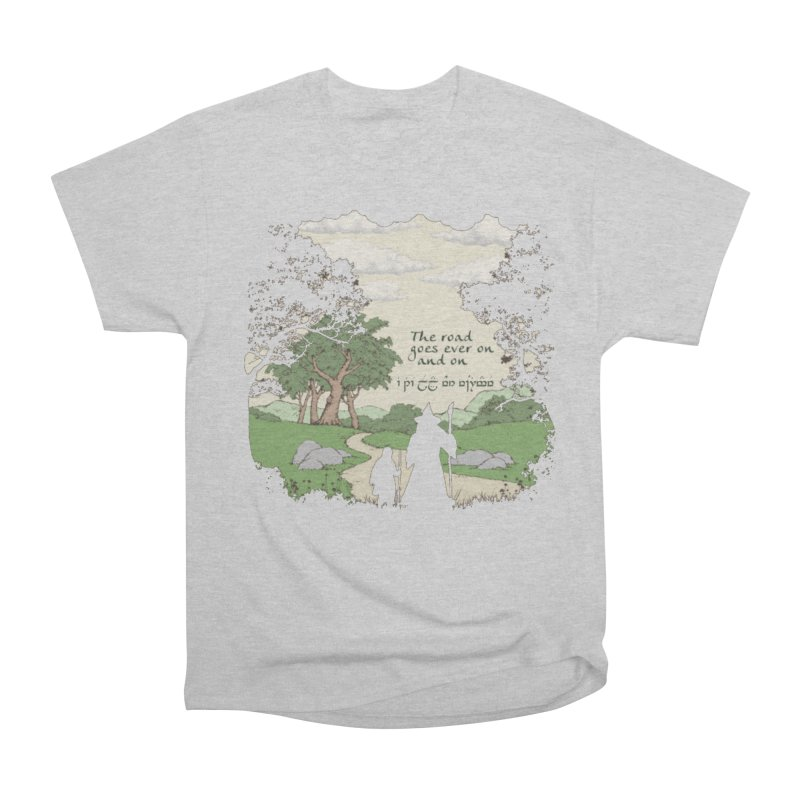 The road goes ever on and on Men's Heavyweight T-Shirt by Q101 Shop