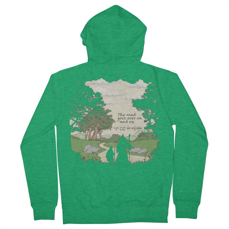 The road goes ever on and on Women's French Terry Zip-Up Hoody by Q101 Shop