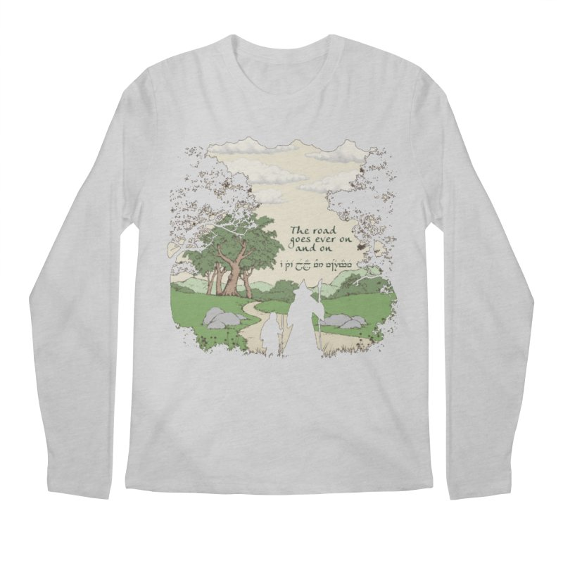 The road goes ever on and on Men's Regular Longsleeve T-Shirt by Q101 Shop