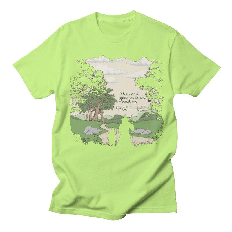 The road goes ever on and on Men's Regular T-Shirt by Q101 Shop