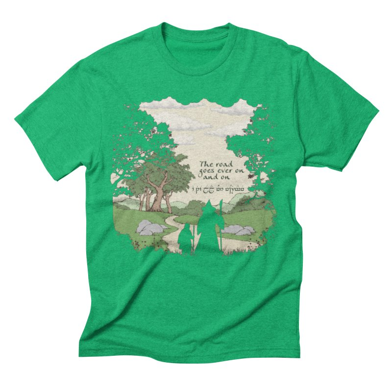 The road goes ever on and on Men's Triblend T-Shirt by Q101 Shop