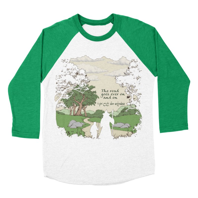 The road goes ever on and on Men's Baseball Triblend Longsleeve T-Shirt by Q101 Shop
