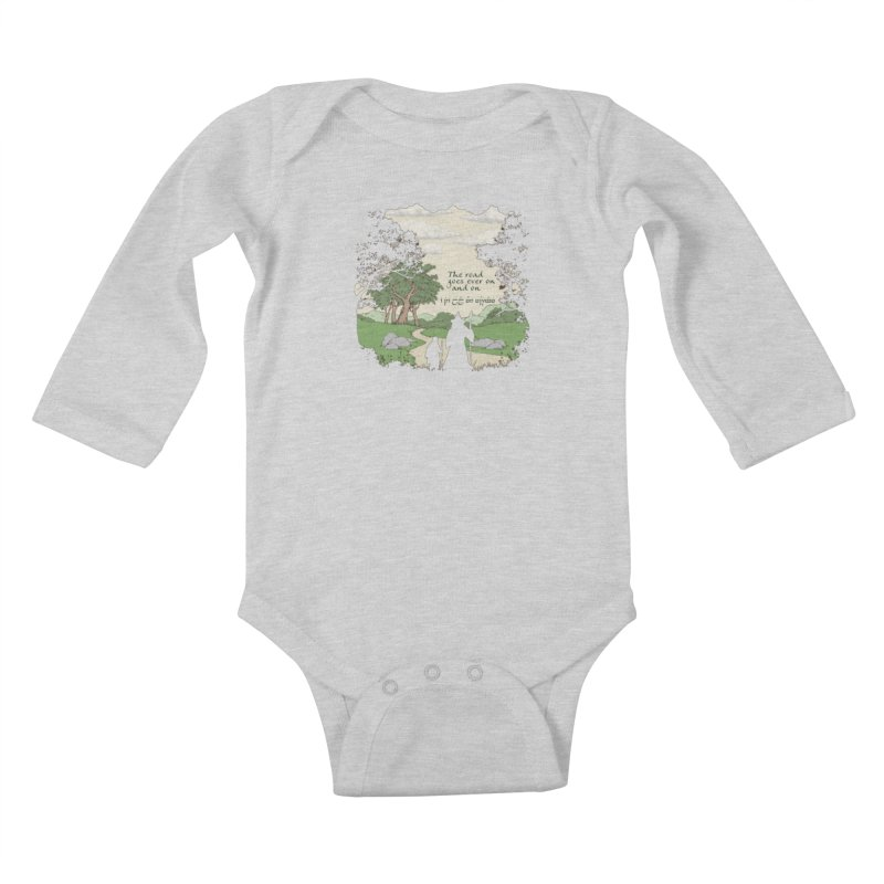 The road goes ever on and on Kids Baby Longsleeve Bodysuit by Q101 Shop
