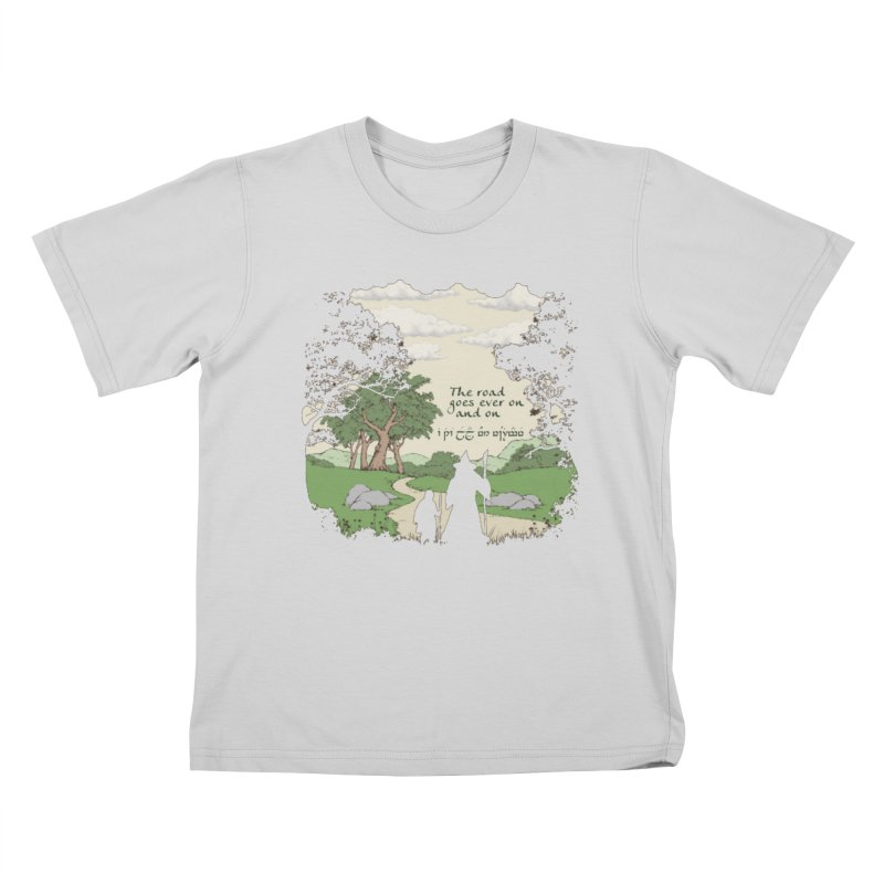 The road goes ever on and on Kids T-Shirt by Q101 Shop