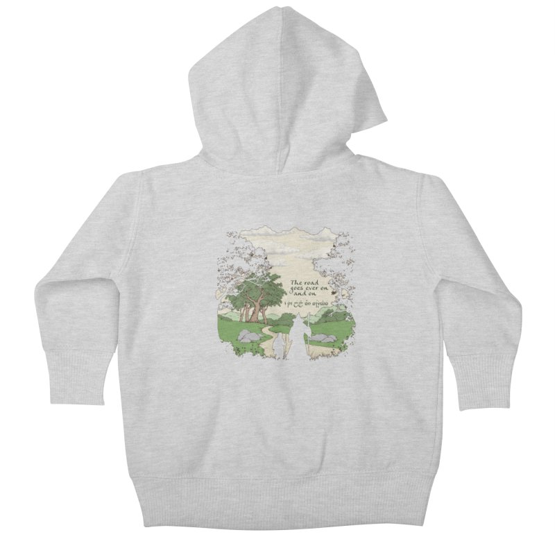 The road goes ever on and on Kids Baby Zip-Up Hoody by Q101 Shop