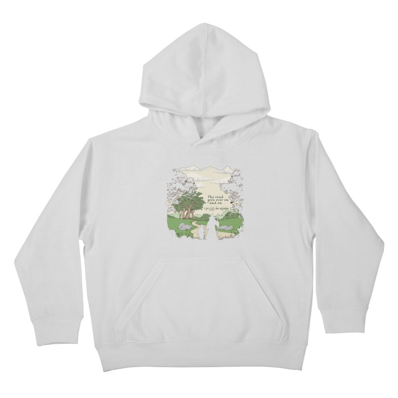 The road goes ever on and on Kids Pullover Hoody by Q101 Shop