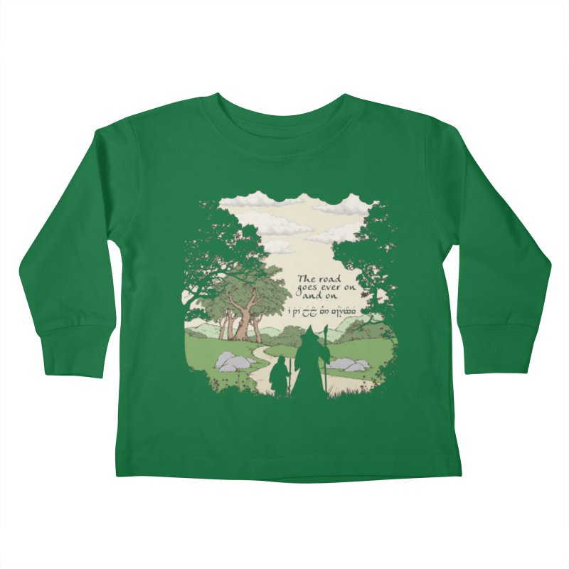The road goes ever on and on Kids Toddler Longsleeve T-Shirt by Q101 Shop