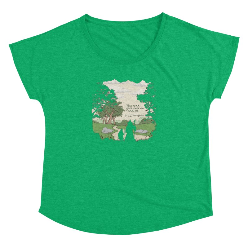The road goes ever on and on Women's Dolman Scoop Neck by Q101 Shop