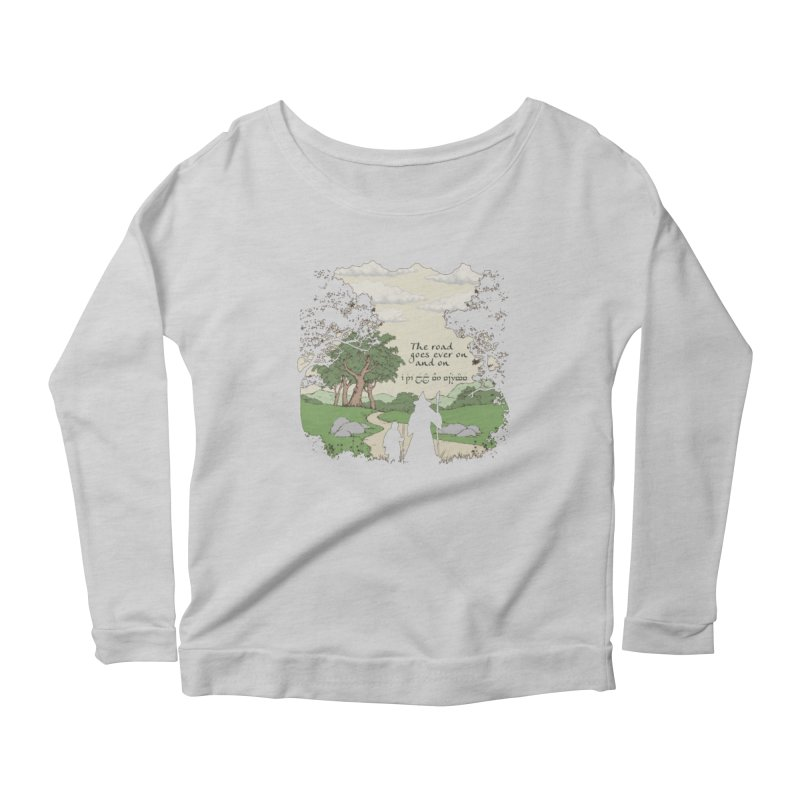 The road goes ever on and on Women's Scoop Neck Longsleeve T-Shirt by Q101 Shop