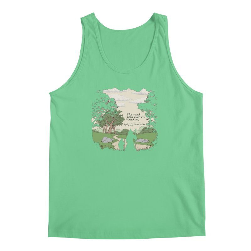 The road goes ever on and on Men's Regular Tank by Q101 Shop
