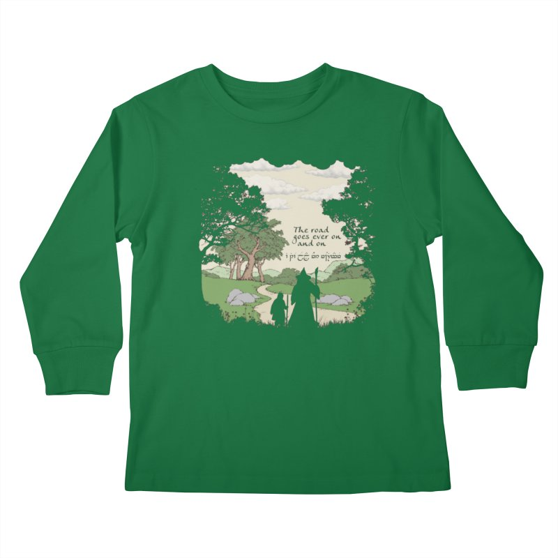 The road goes ever on and on Kids Longsleeve T-Shirt by Q101 Shop