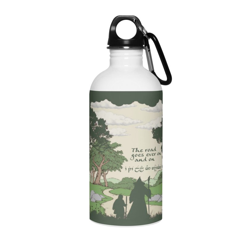 The road goes ever on and on Accessories Water Bottle by Q101 Shop