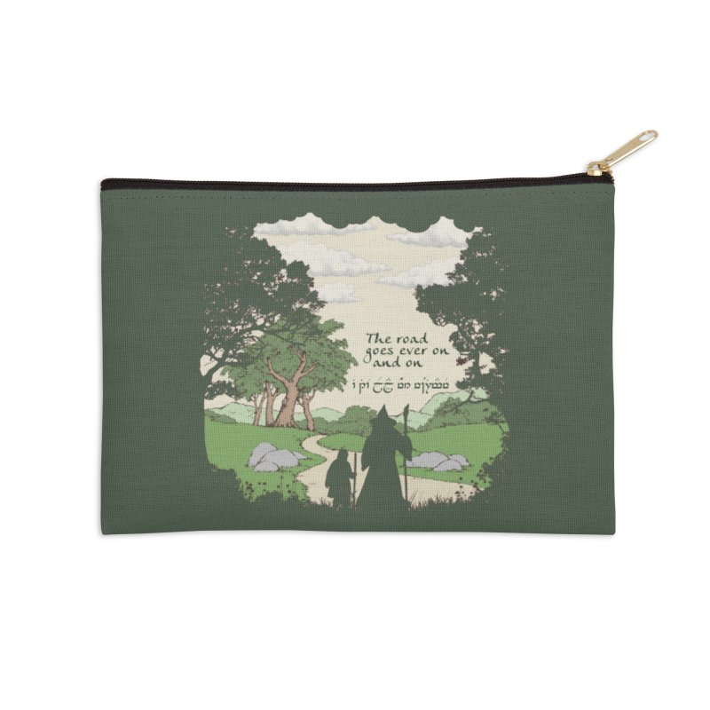 The road goes ever on and on Accessories Zip Pouch by Q101 Shop