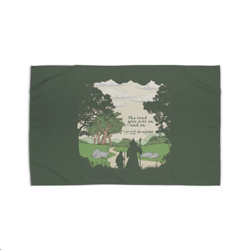 The road goes ever on and on Home Rug by Q101 Shop