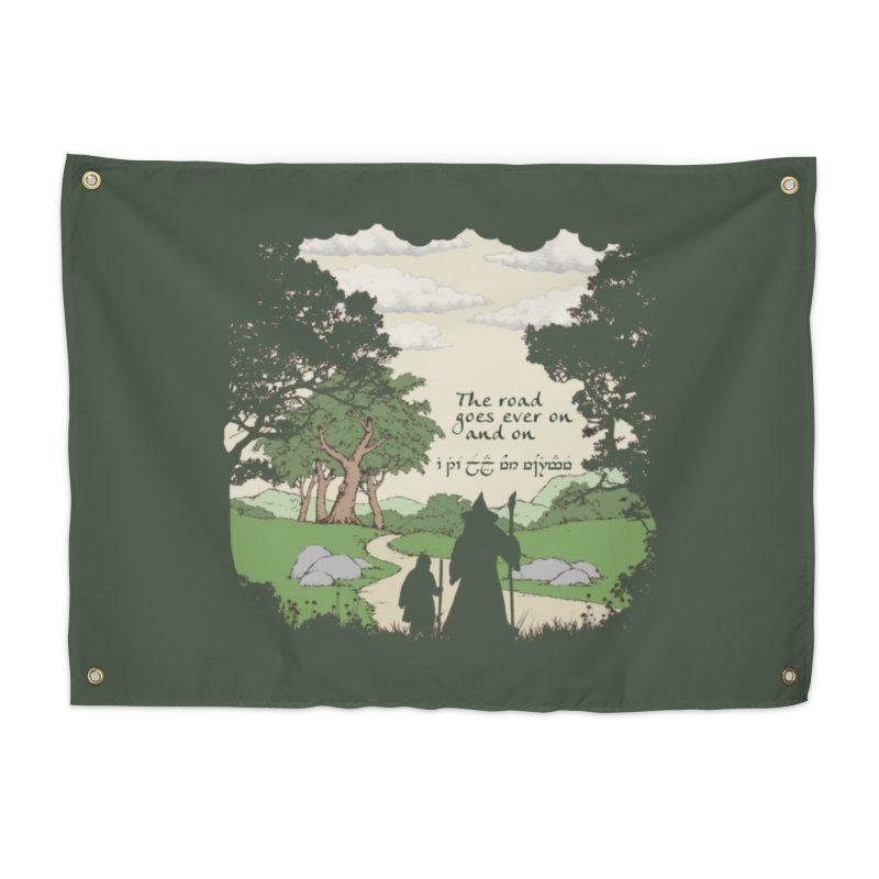 The road goes ever on and on Home Tapestry by Q101 Shop