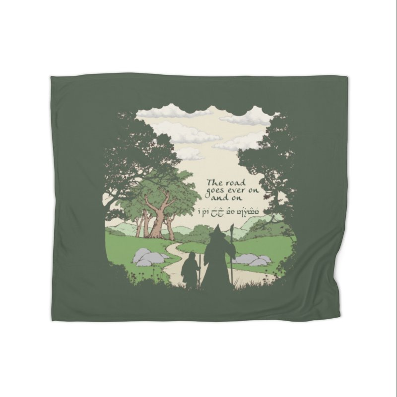The road goes ever on and on Home Fleece Blanket Blanket by Q101 Shop