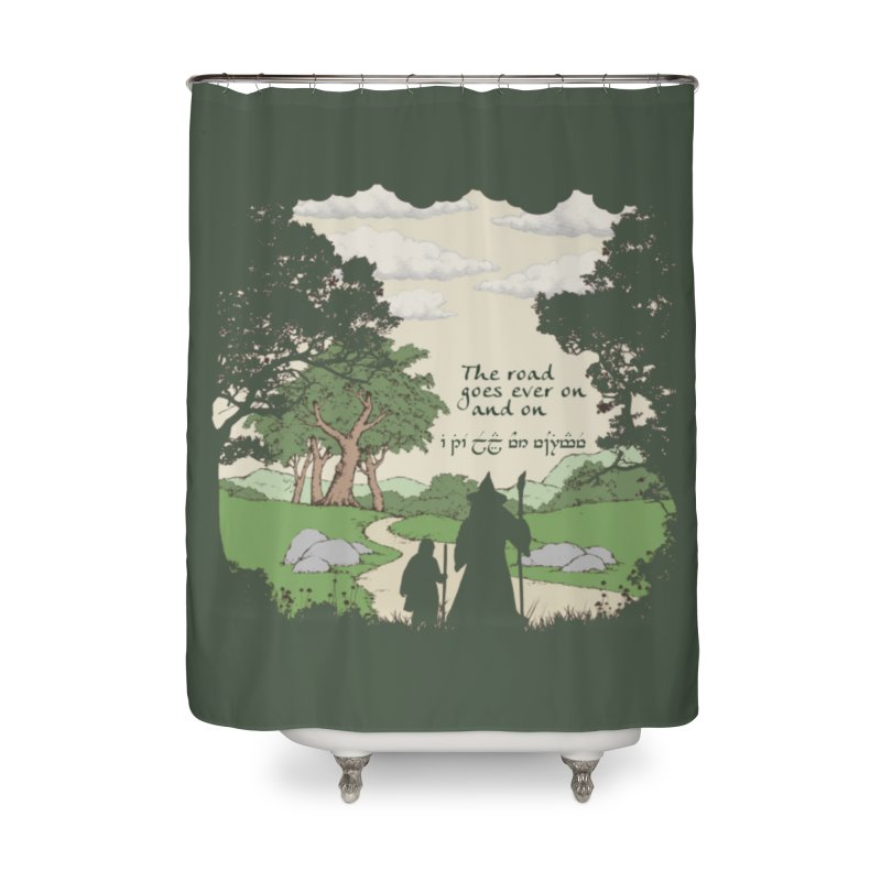 The road goes ever on and on Home Shower Curtain by Q101 Shop