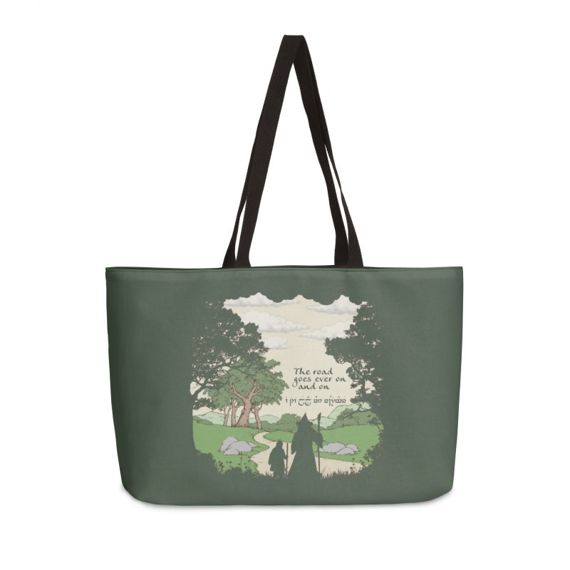 The road goes ever on and on Accessories Weekender Bag Bag by Q101 Shop
