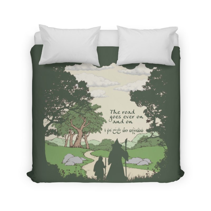 The road goes ever on and on Home Duvet by Q101 Shop