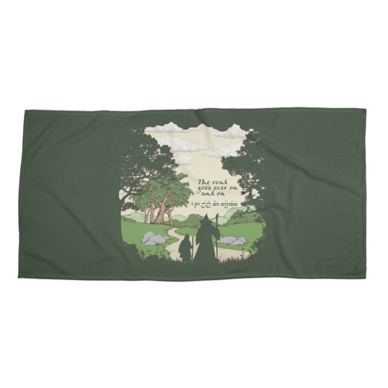 The road goes ever on and on Accessories Beach Towel by Q101 Shop