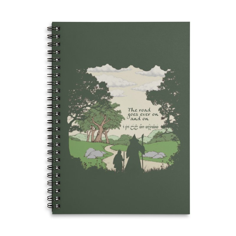 The road goes ever on and on Accessories Lined Spiral Notebook by Q101 Shop