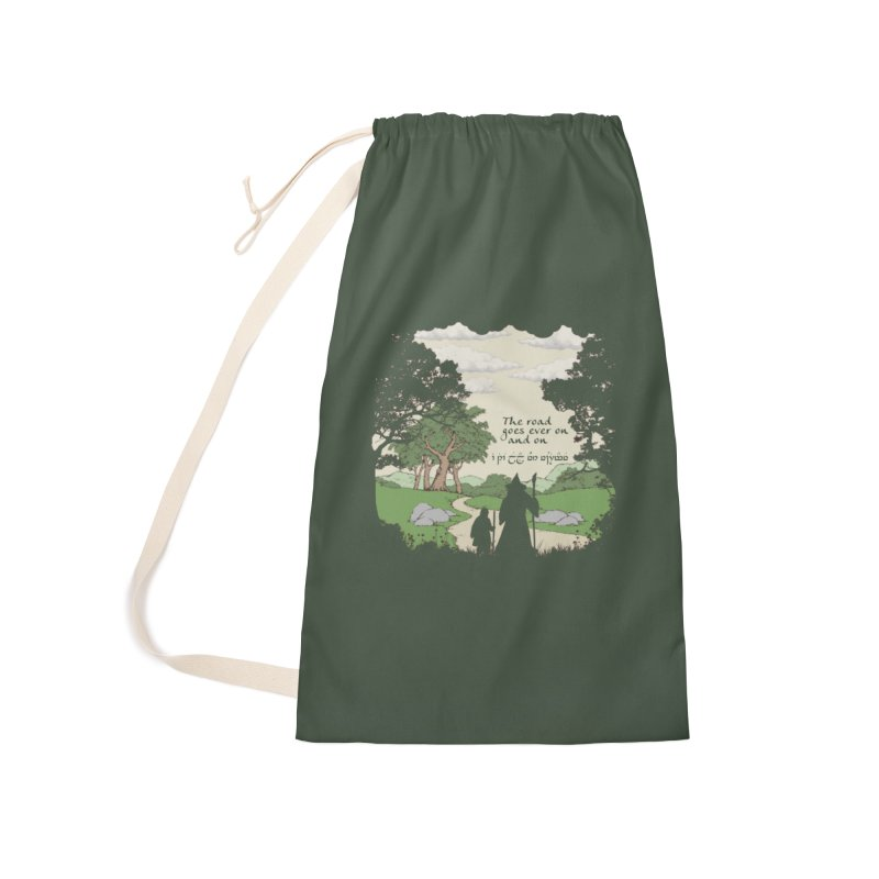 The road goes ever on and on Accessories Laundry Bag Bag by Q101 Shop