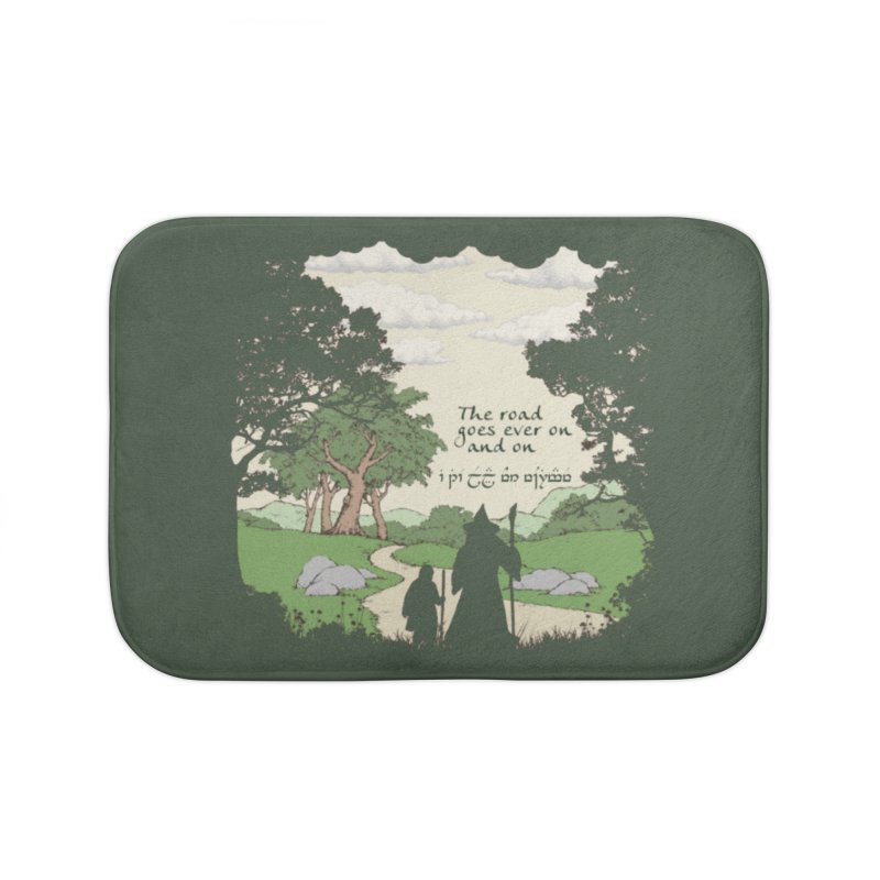 The road goes ever on and on Home Bath Mat by Q101 Shop