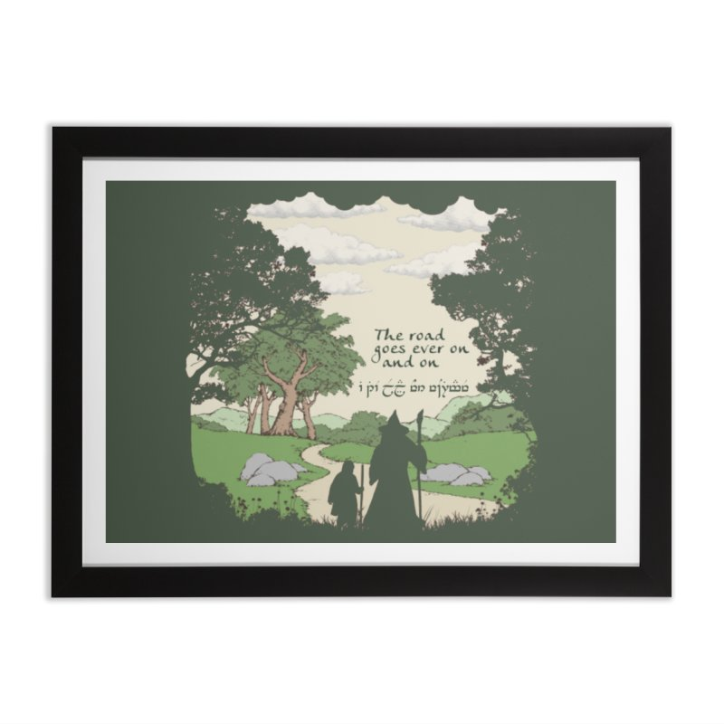 The road goes ever on and on Home Framed Fine Art Print by Q101 Shop