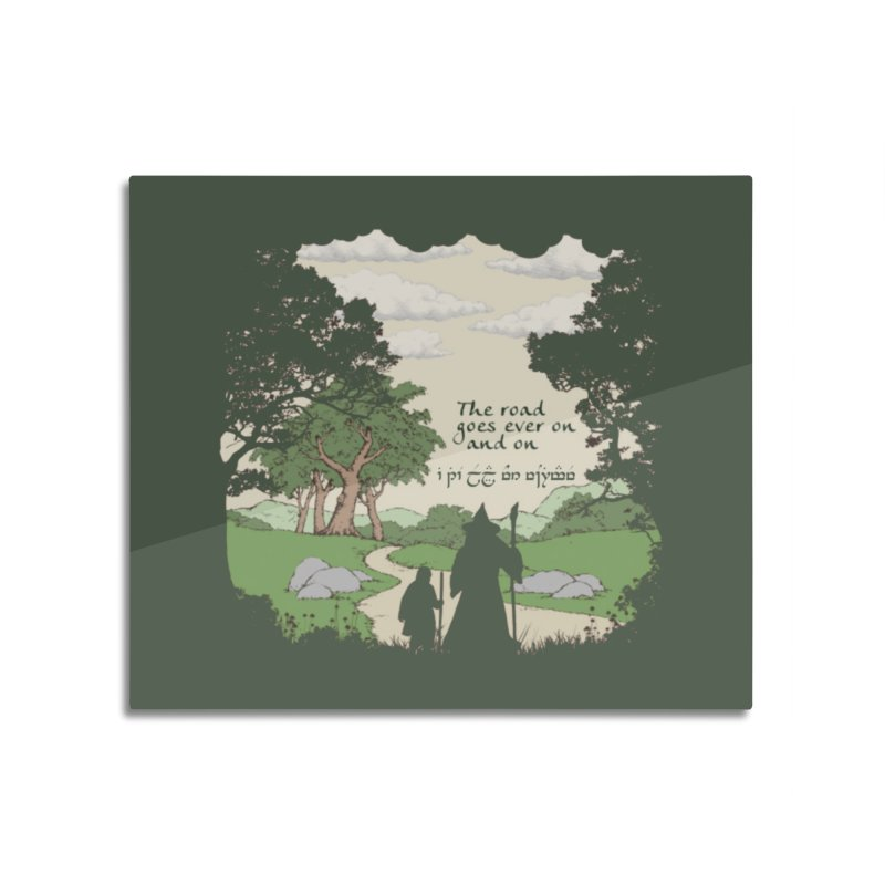 The road goes ever on and on Home Mounted Acrylic Print by Q101 Shop