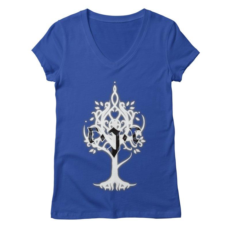 White Tree Awards VII Women's Regular V-Neck by Q101 Shop