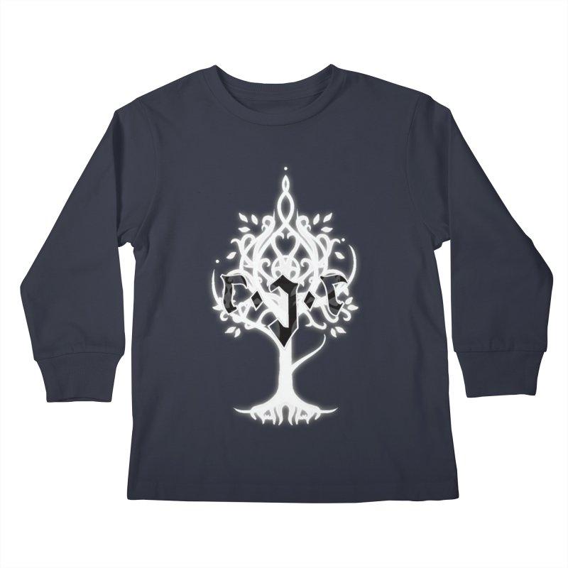 White Tree Awards VII Kids Longsleeve T-Shirt by Q101 Shop