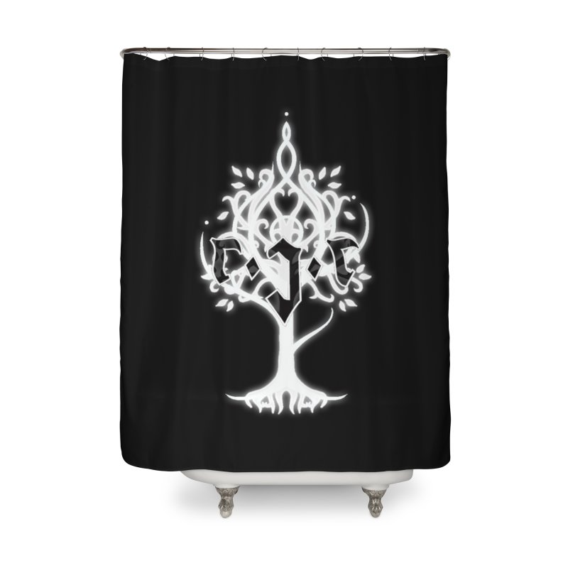 White Tree Awards VII Home Shower Curtain by Q101 Shop