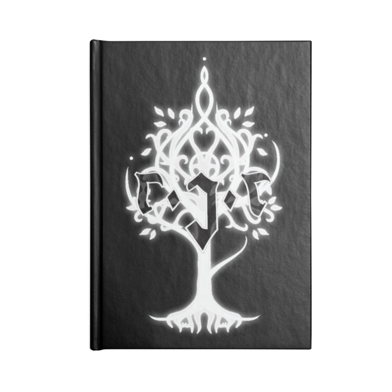 White Tree Awards VII Accessories Lined Journal Notebook by Q101 Shop