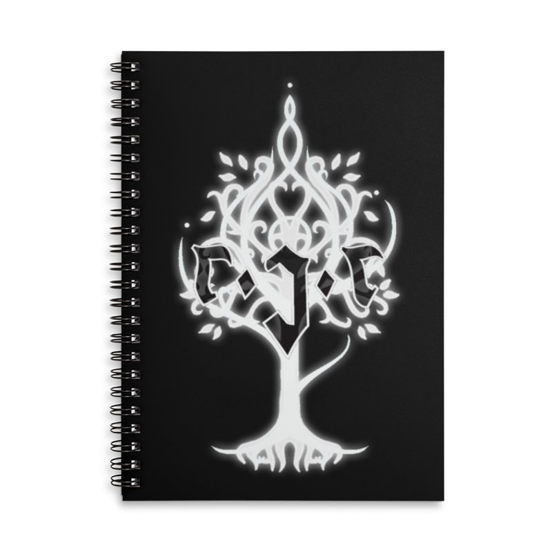 White Tree Awards VII Accessories Lined Spiral Notebook by Q101 Shop