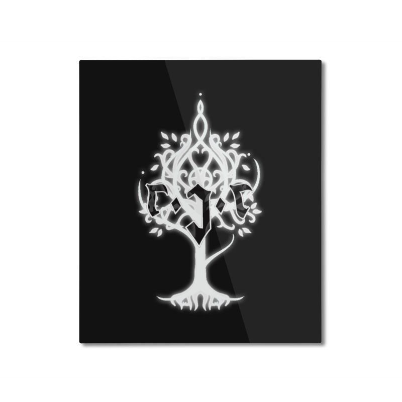 White Tree Awards VII Home Mounted Aluminum Print by Q101 Shop