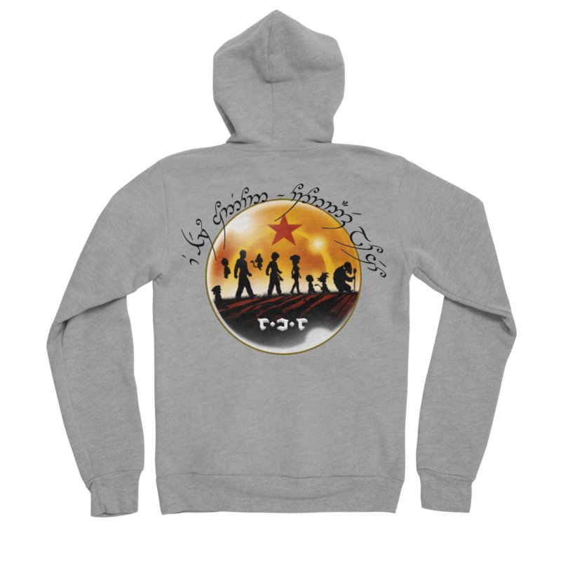 The Lord of the Balls - The Fellowship of the Dragon Men's Sponge Fleece Zip-Up Hoody by Q101 Shop
