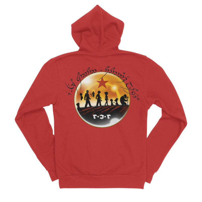 The Lord of the Balls - The Fellowship of the Dragon Women's Sponge Fleece Zip-Up Hoody by Q101 Shop