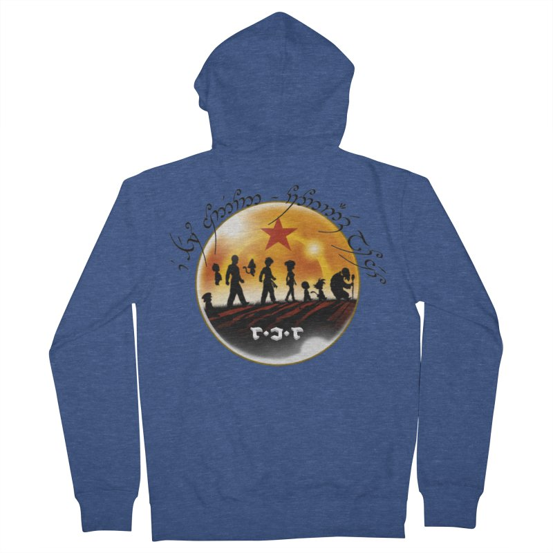 The Lord of the Balls - The Fellowship of the Dragon Men's French Terry Zip-Up Hoody by Q101 Shop