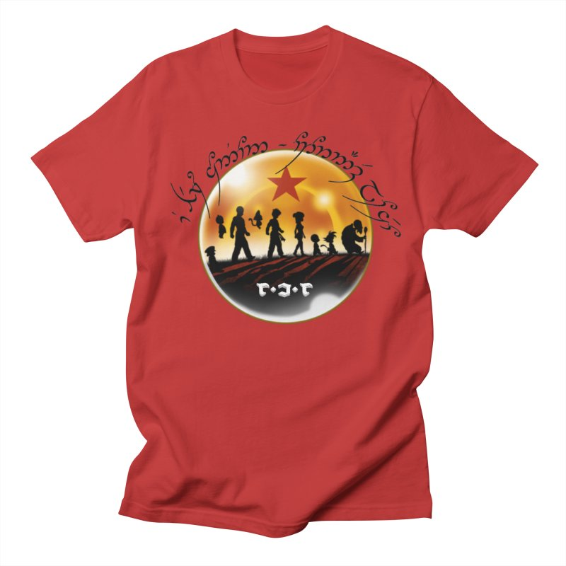 The Lord of the Balls - The Fellowship of the Dragon in Men's Regular T-Shirt Red by Q101 Shop