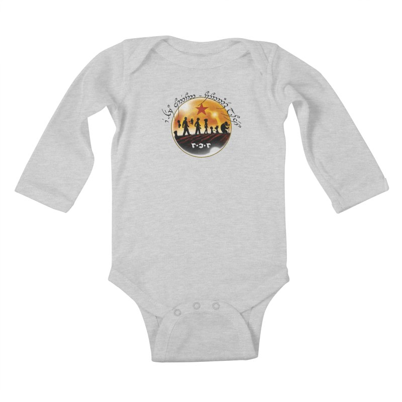 The Lord of the Balls - The Fellowship of the Dragon Kids Baby Longsleeve Bodysuit by Q101 Shop