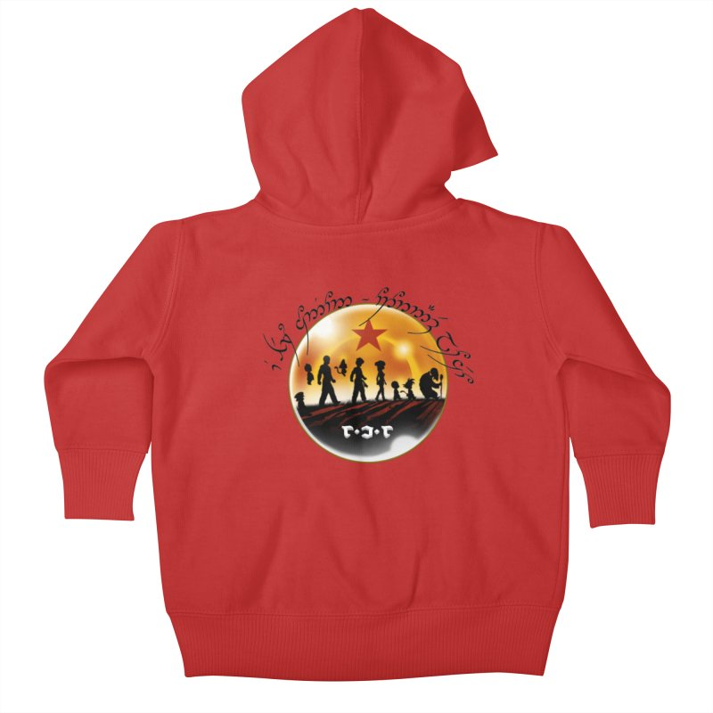 The Lord of the Balls - The Fellowship of the Dragon Kids Baby Zip-Up Hoody by Q101 Shop