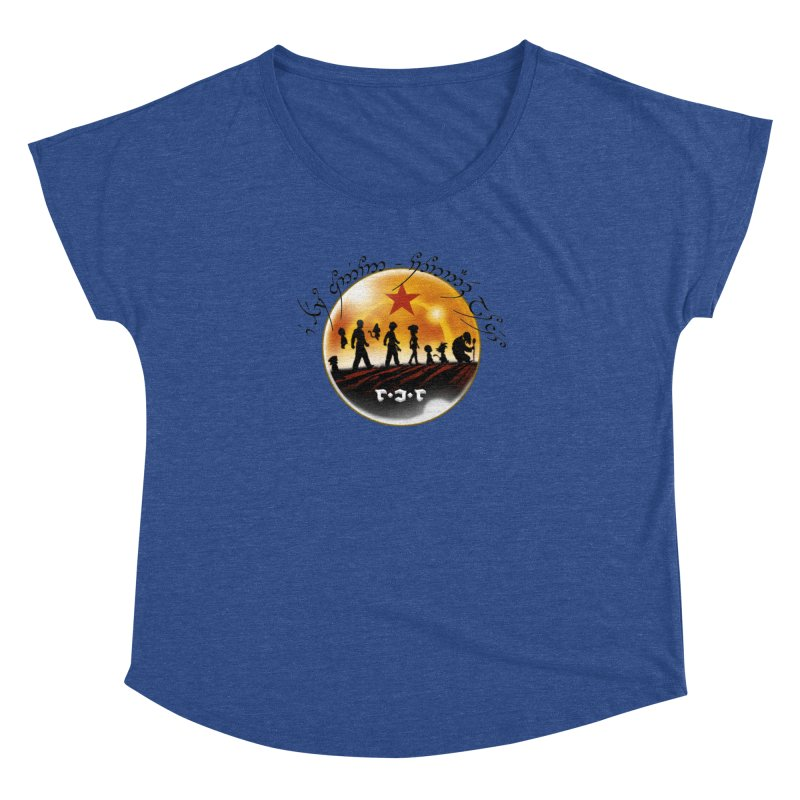 The Lord of the Balls - The Fellowship of the Dragon Women's Dolman Scoop Neck by Q101 Shop