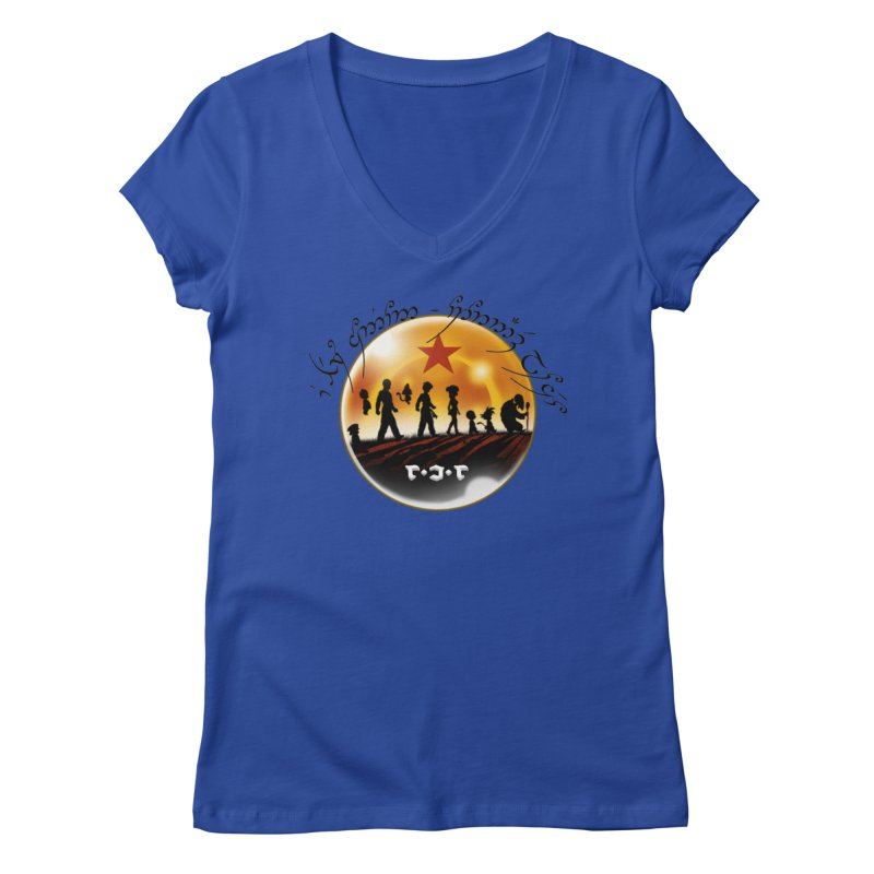 The Lord of the Balls - The Fellowship of the Dragon Women's Regular V-Neck by Q101 Shop